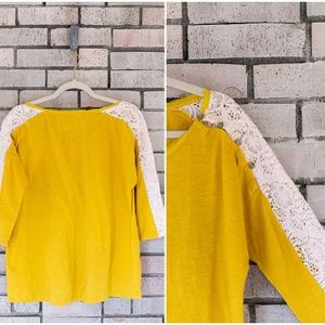 Anthropologie Tops - Anthropologie Little Yellow Button Mabel Knit Top